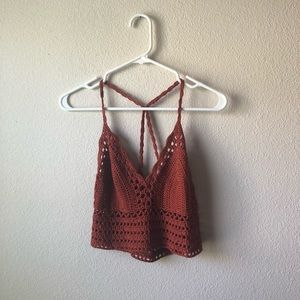 Crocheted bralette